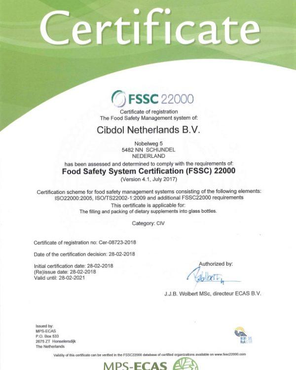 cibdol-fssc-22000-quality